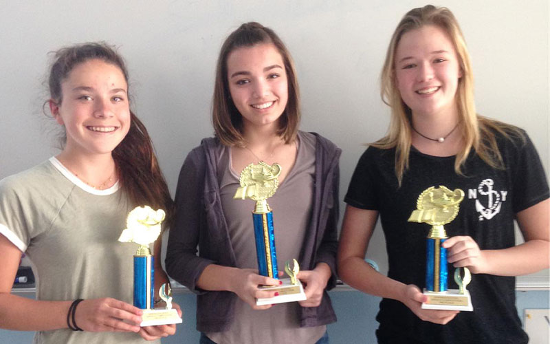 Winners of the 8th Grade Speech Competition Crowned!