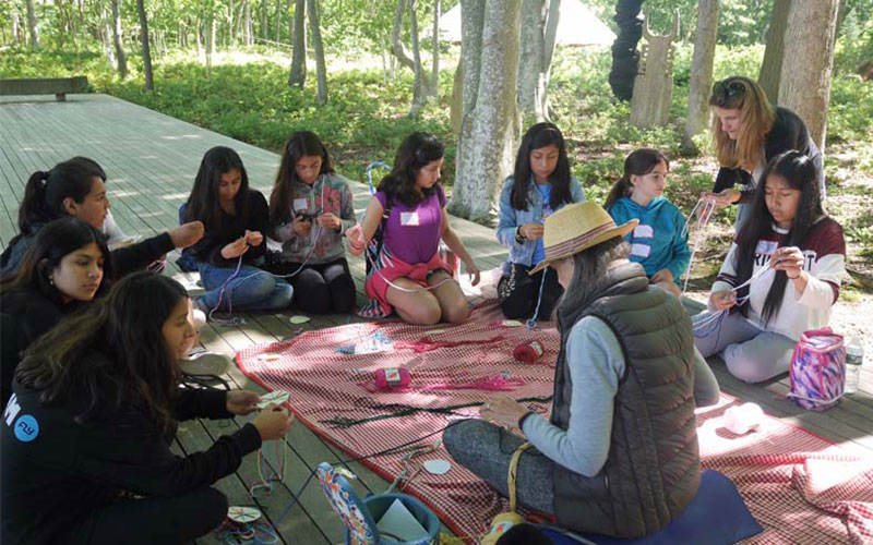 Sixth graders enjoy an 'Artistic Retreat' at the Watermill Center