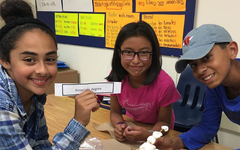 "Seventh Graders Use Teamwork for ""Marshmallow Challenge"""