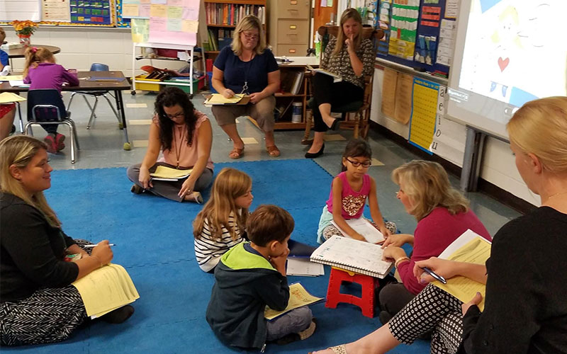 Teachers Participate in 'Learning Walks'