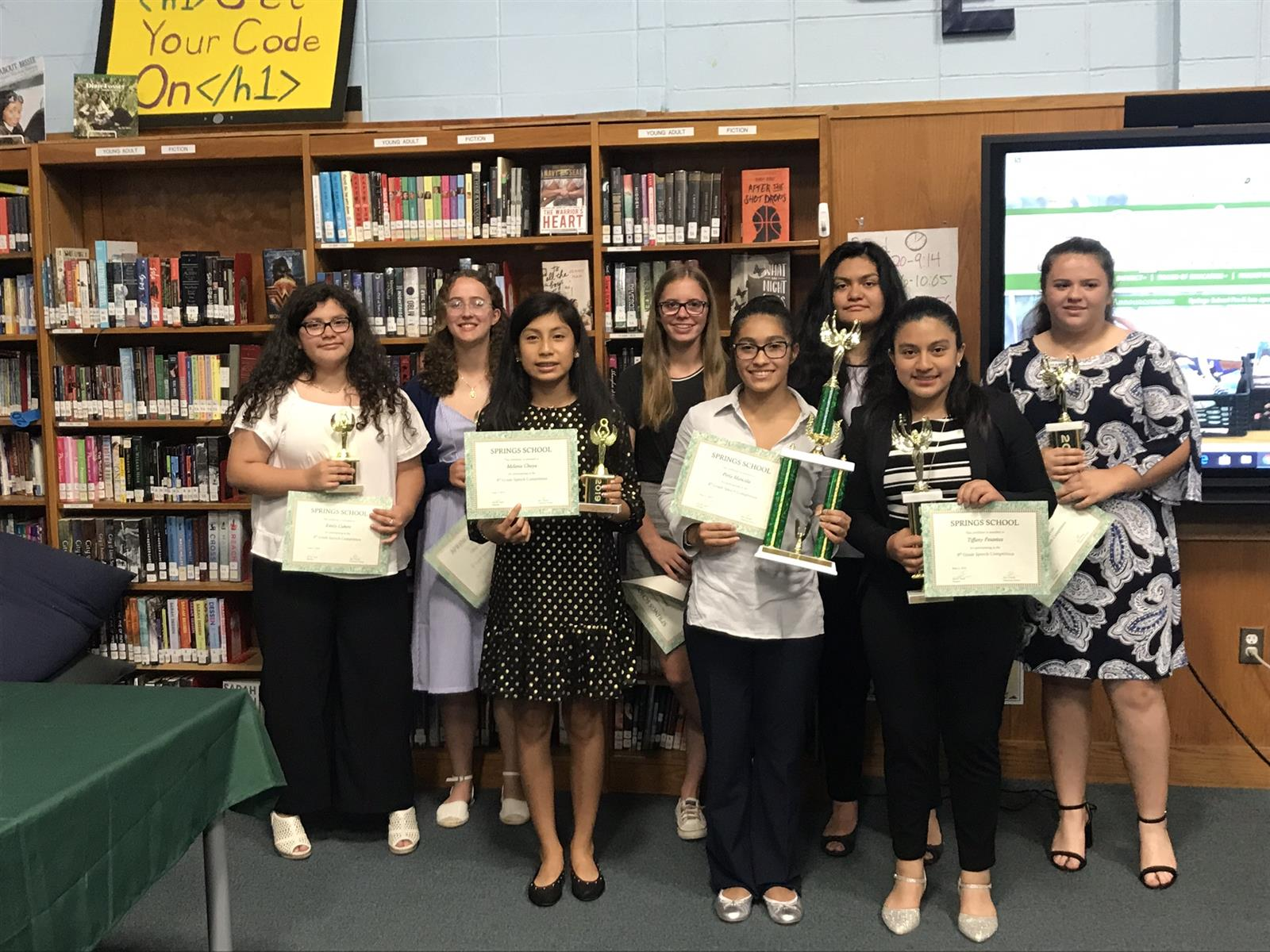 8th Graders Compete in Speech Contest