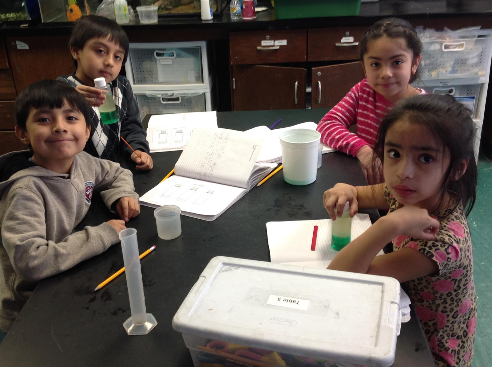 First Graders Learn About Liquids and Solids