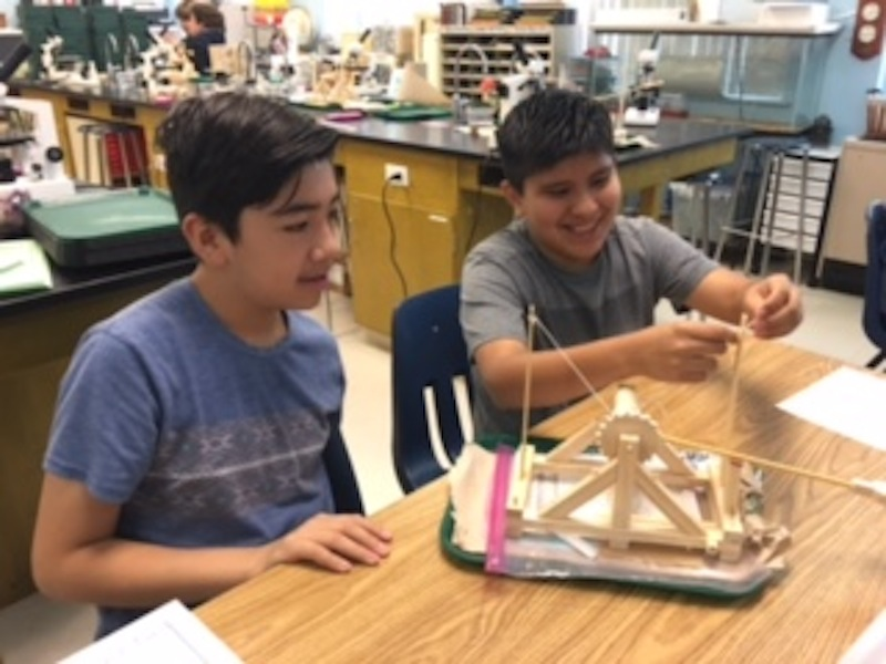 Sixth Graders Create Catapults to 'Storm the Castle!'