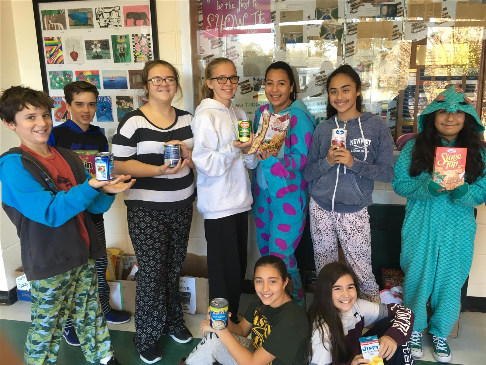 Junior High Student Council Holds 'Pajama Day' Fundraiser for Springs Food Pantry