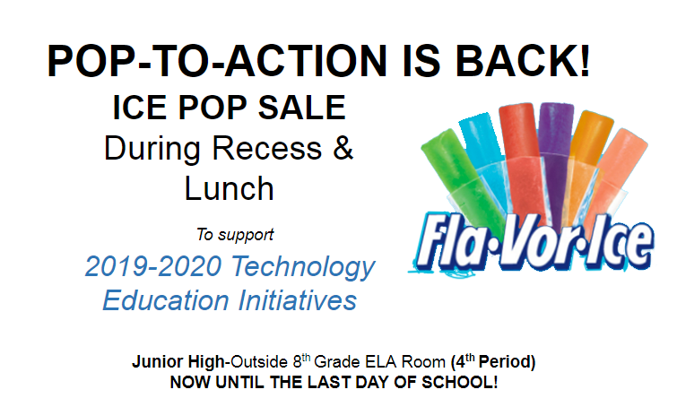 The Ice Pop Fundraiser is Back!