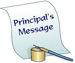 Principal's Message ~ April