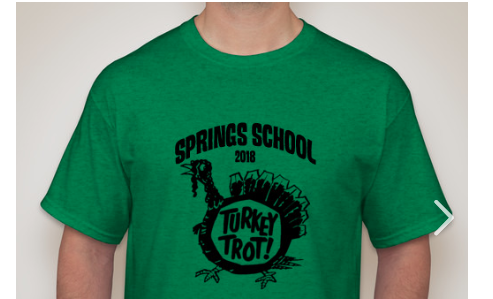 Get a Turkey Trot T-Shirt to support the 7th Grade Class Trip