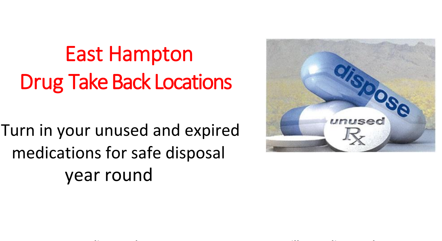 Year-Round Medication and Drug Take Back Locations