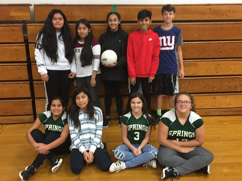 Junior High Students Compete in Volleyball Tournament in Phys. Ed. Class