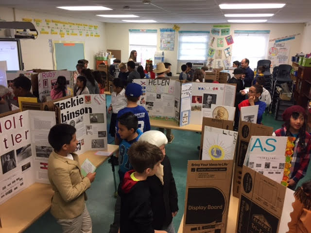 Fifth Graders Create a 'Living Wax Museum!'