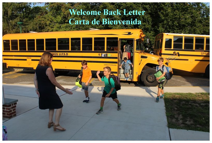 Welcome Back Letter to Parents 2020-21